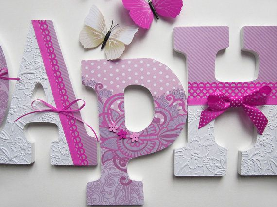 Personalized Custom Wood Letters To Spell Name Or Initials For