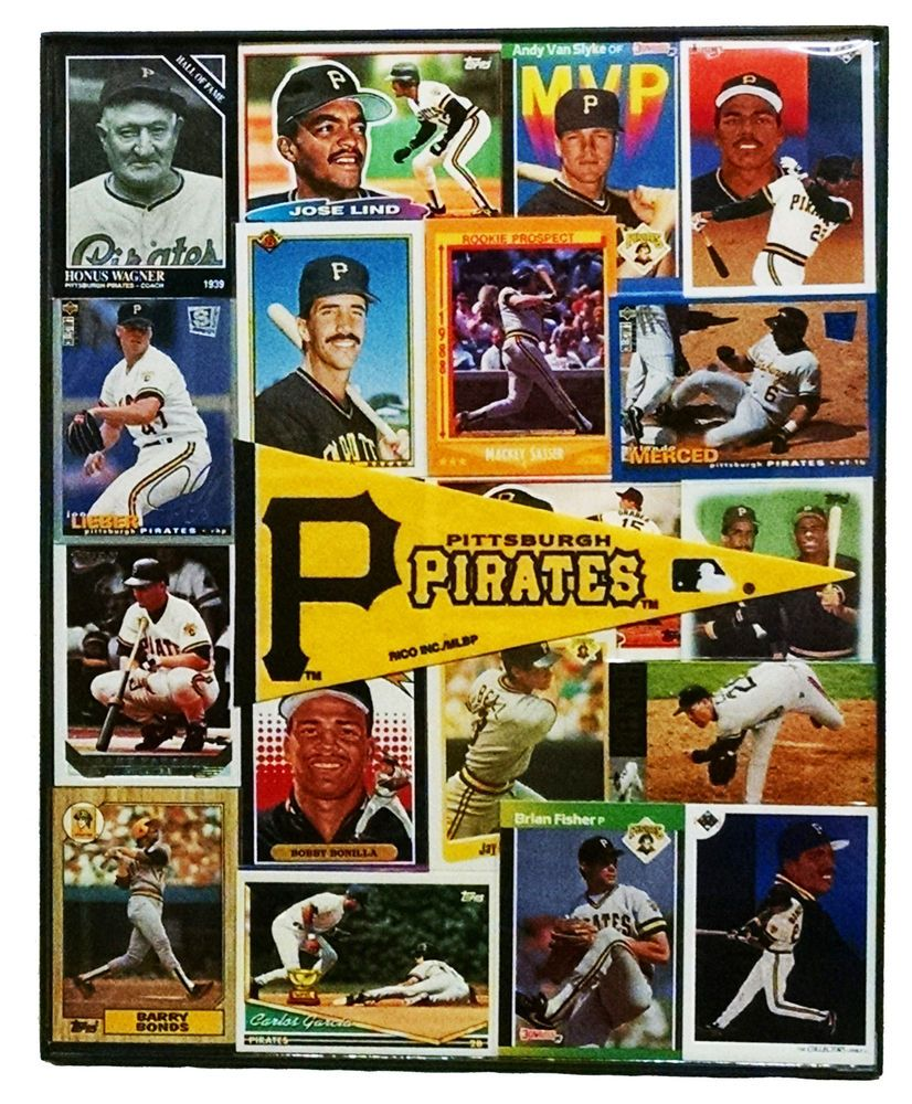Pittsburgh #Pirates #Bar #ManCave #Vintage #Baseball #Collage Wall ...