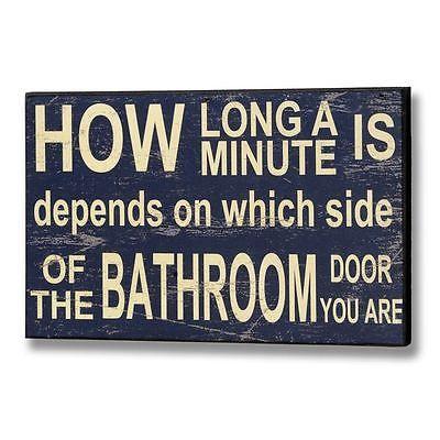 Bathroom Signs Ebay chic shabby bathroom sign - humorous wall hanging loo toilet