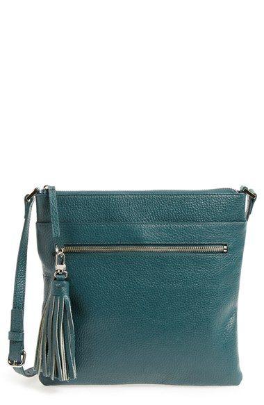 0042350cebbbf0 Halogen® Tasseled Leather Crossbody Bag | bags