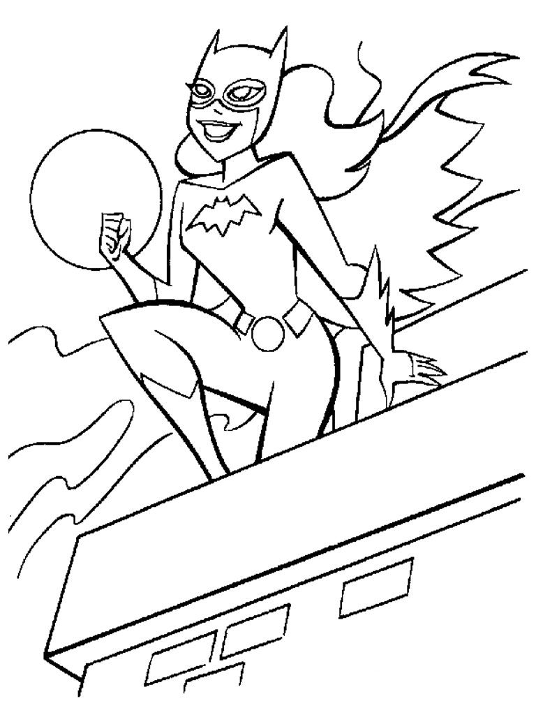 http://colorings.co/batgirl-coloring-pages/ | Colorings | Pinterest