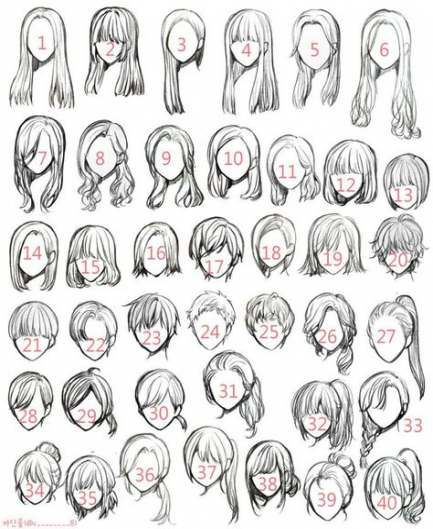 31+  Ideas for hair art reference anime girls 31+  Ideas for hair art reference anime girls