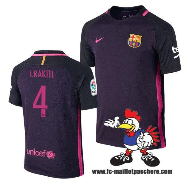 Nouveau Maillot Foot FC Barcelone (I.RAKITI 4) Exterieur 2016 2017 Personnalisable