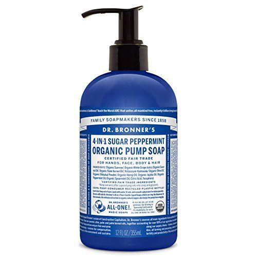 Dr Bronners Fair Trade Organic Shikakai Hand Body Pump Soap