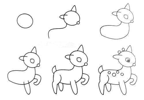 How To Draw Easy Animal Figures In Simple Steps Drawings