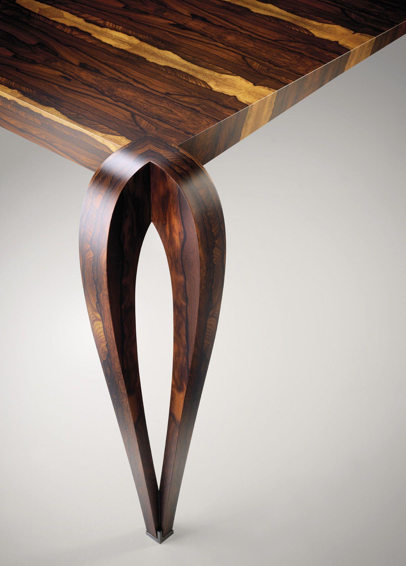 Table Remarquable Bois De Ziricote Paul Hoffmann Table Idees