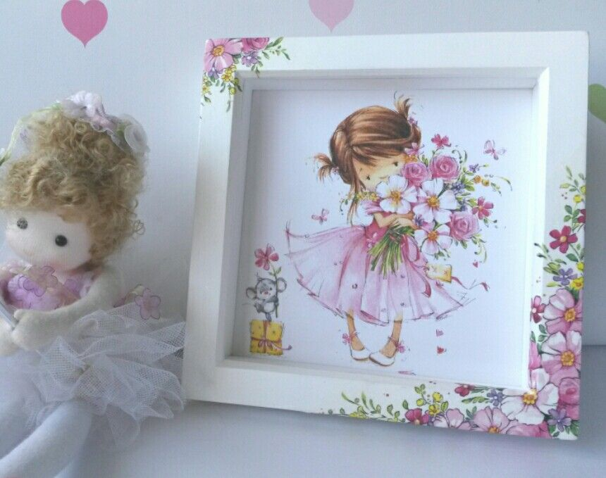 Decoupage flower girl box frame by Elysson Creations. Available in ...
