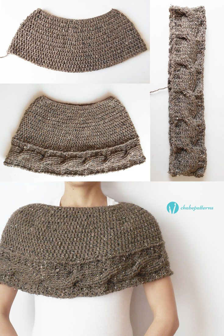 Cabled cape, free pattern, video tutorial, charts, written ...
