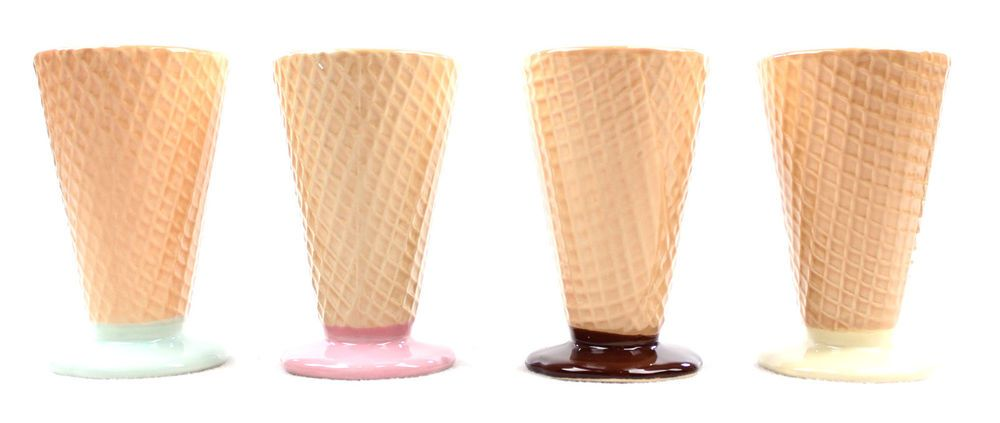 Ice Cream Novelty Bowls - Set of 4   www.TheConsignmentBag.com We Ship Worldwide! New Items Arrive Daily!