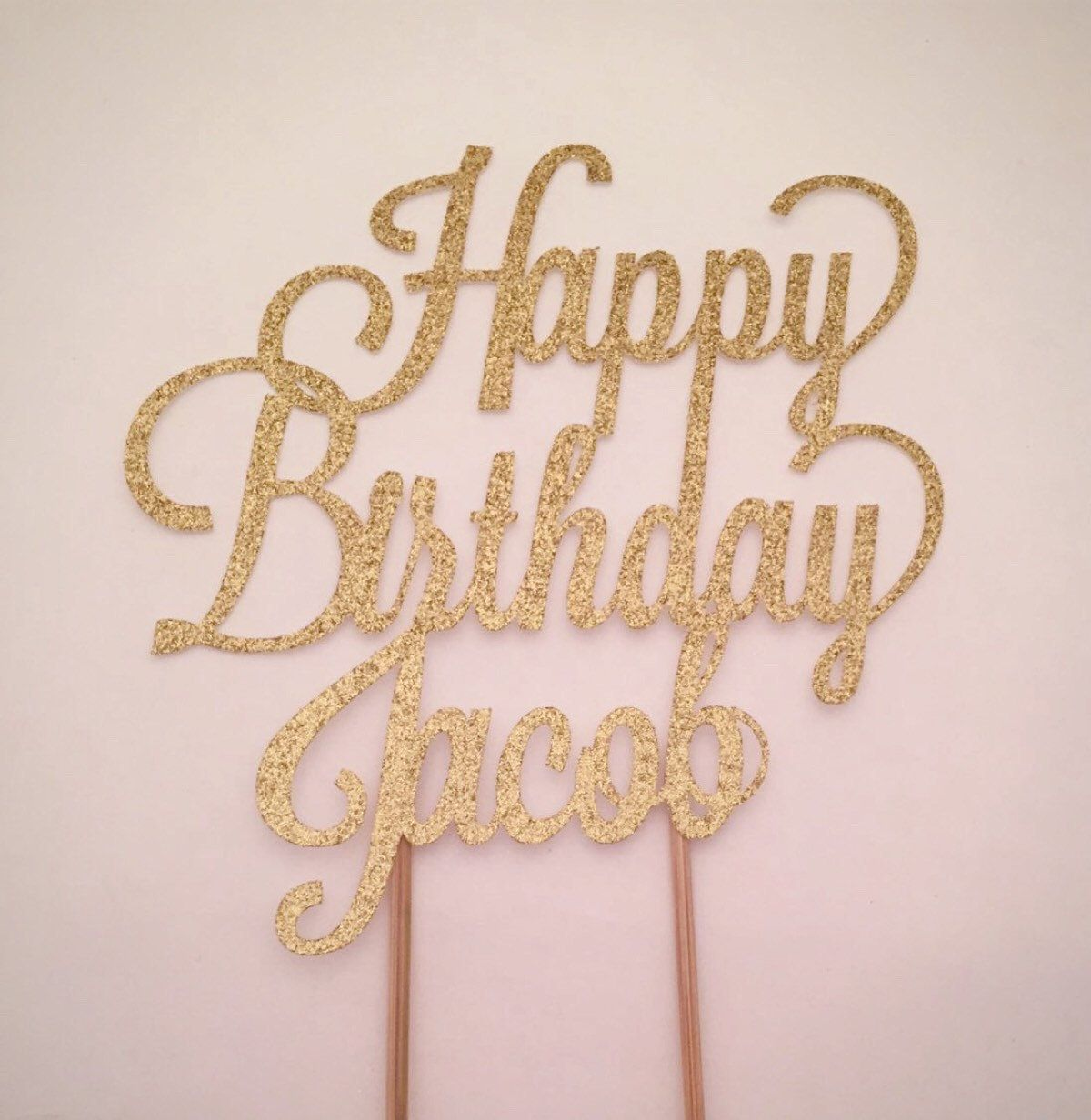 Any Name Personalized Cake Topper Happy Birthday Cake Etsy Happy Birthday Cake Topper Personalized Cake Topper Birthday Personalized Cake Toppers