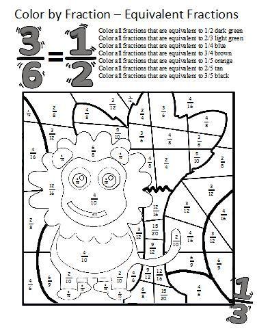 Equivalent Fractions Worksheet | Μαθηματικά | Pinterest ...