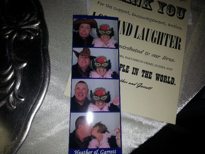 Photo booths at my great niece's wedding!
