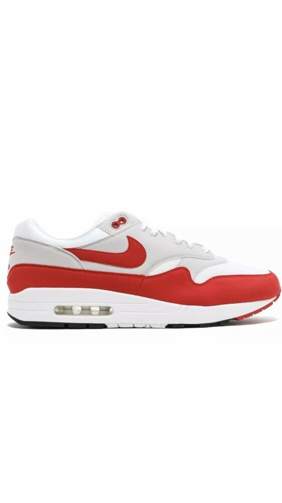 separation shoes 21c15 063e7 Nike Air Max 1 Womens Vast Grey Habanero Red Running Shoes Size 8.5  Anniversary - Nike
