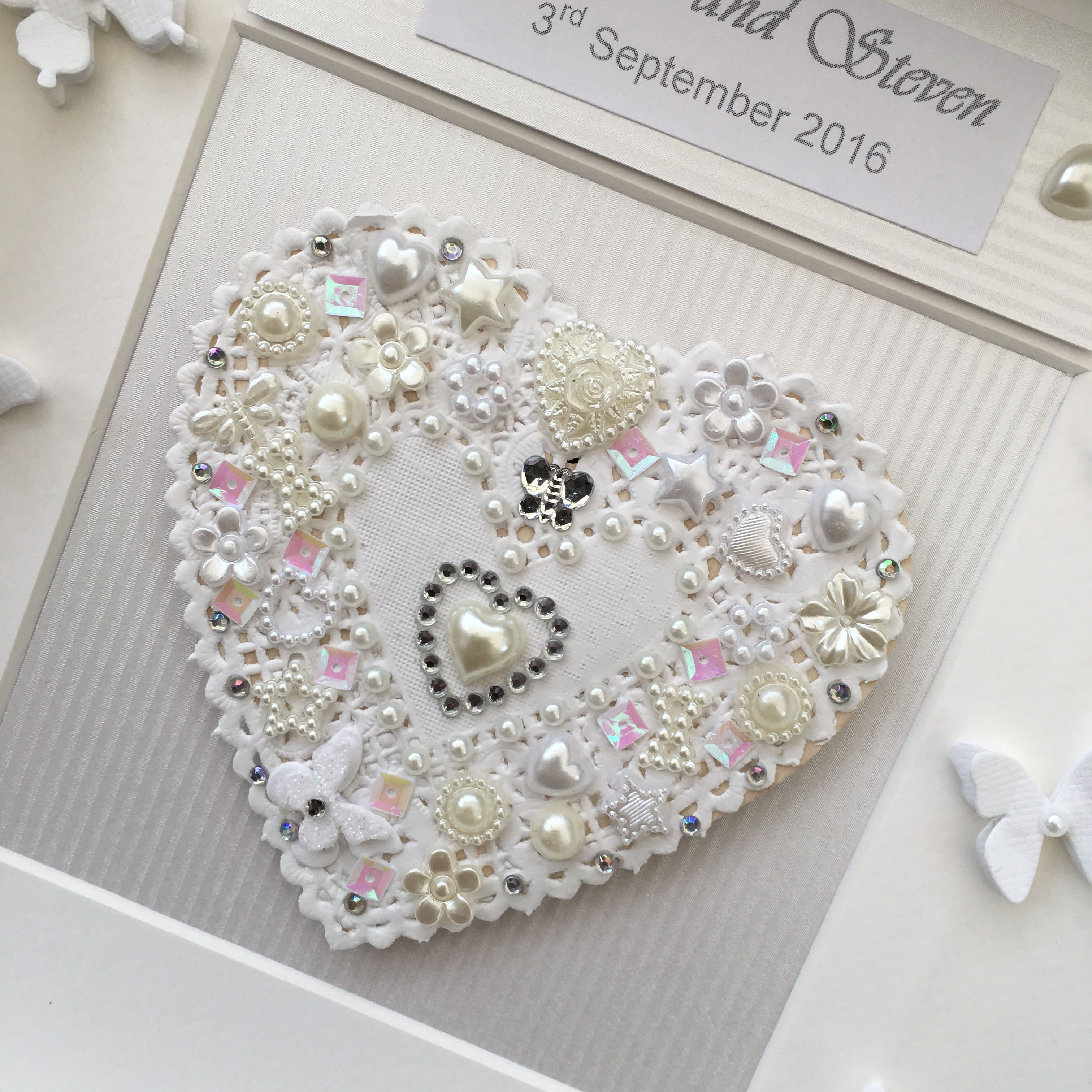 Beautiful box framed wedding or anniversary celebration