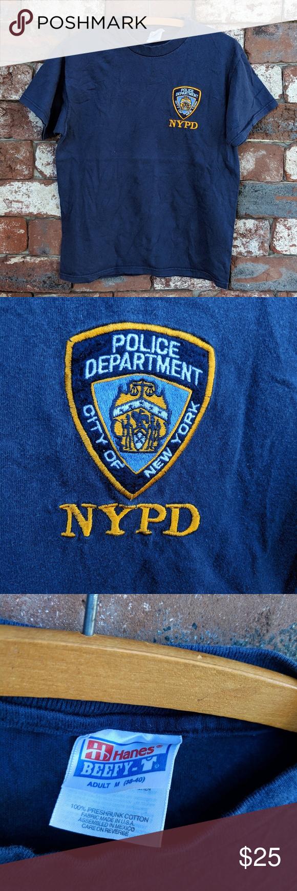 Vintage NYPD shield logo tshirt Vintage NYPD shield logo