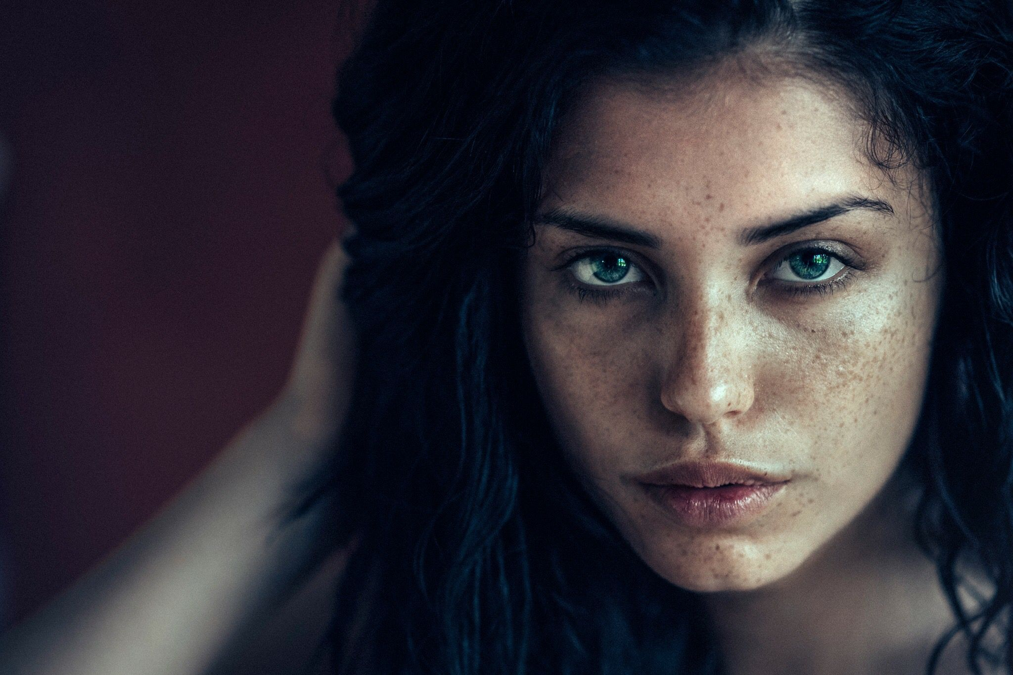 Luzie Green eyes, natural beauty, no retouch, no makeup