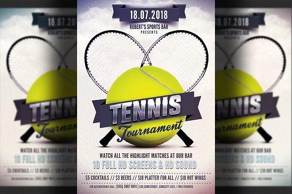 Tennis Flyer Template Flyer Template Photoshop Flyer Flyer