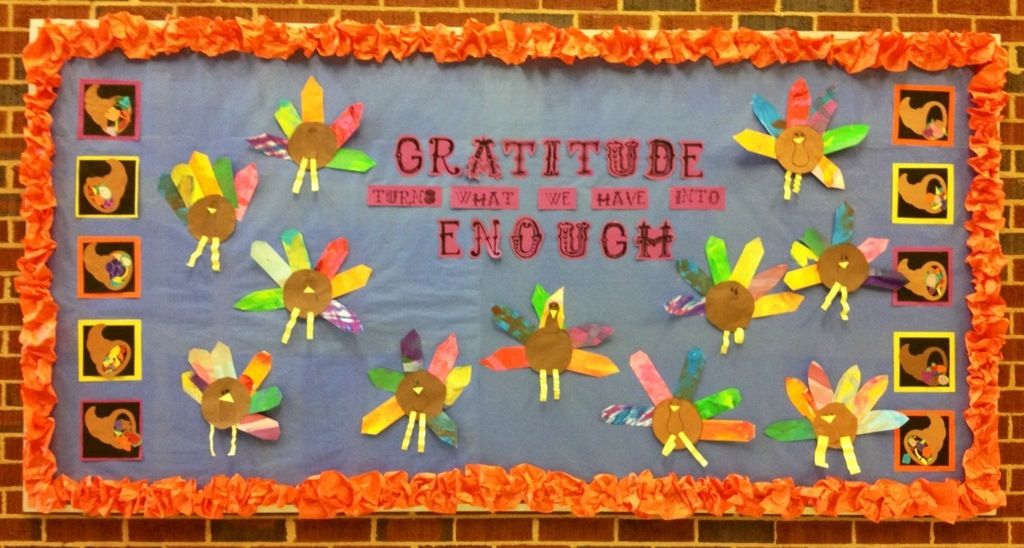 Thanksgiving classroom door decorations