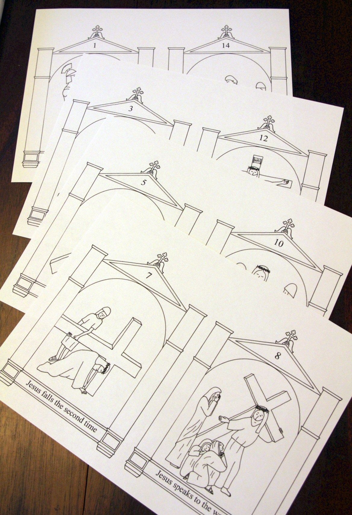 Stations Of The Cross Printable Coloring Book Free In