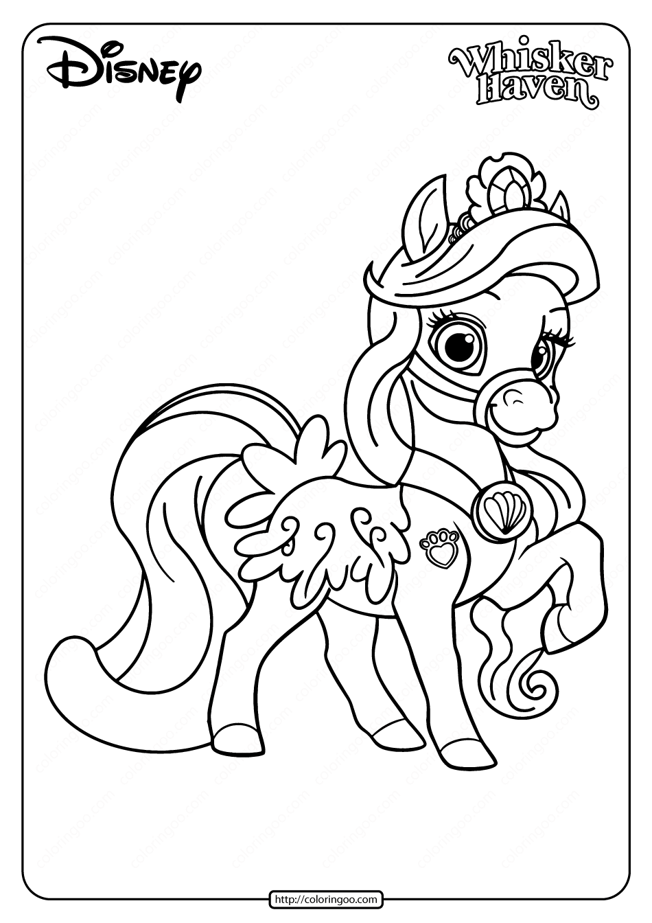 Printable Palace Pets Seashell Pdf Coloring Page in 2020 ...