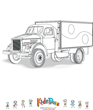 Box Truck Coloring Page | Truck boxes, Box and Craft