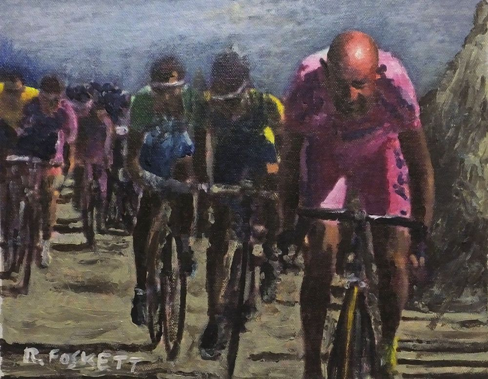 Details about Marco Pantani Cycling oil painting on 407g cotton ...