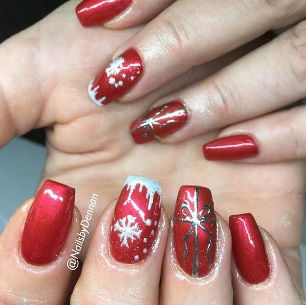 Pin on Red Nail Art Designs