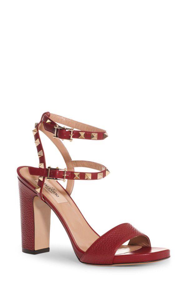79fd1513fe2 VALENTINO GARAVANI VALENTINO GARAVANI Rockstud Ankle Strap Sandal (Women)  available at  Nordstrom