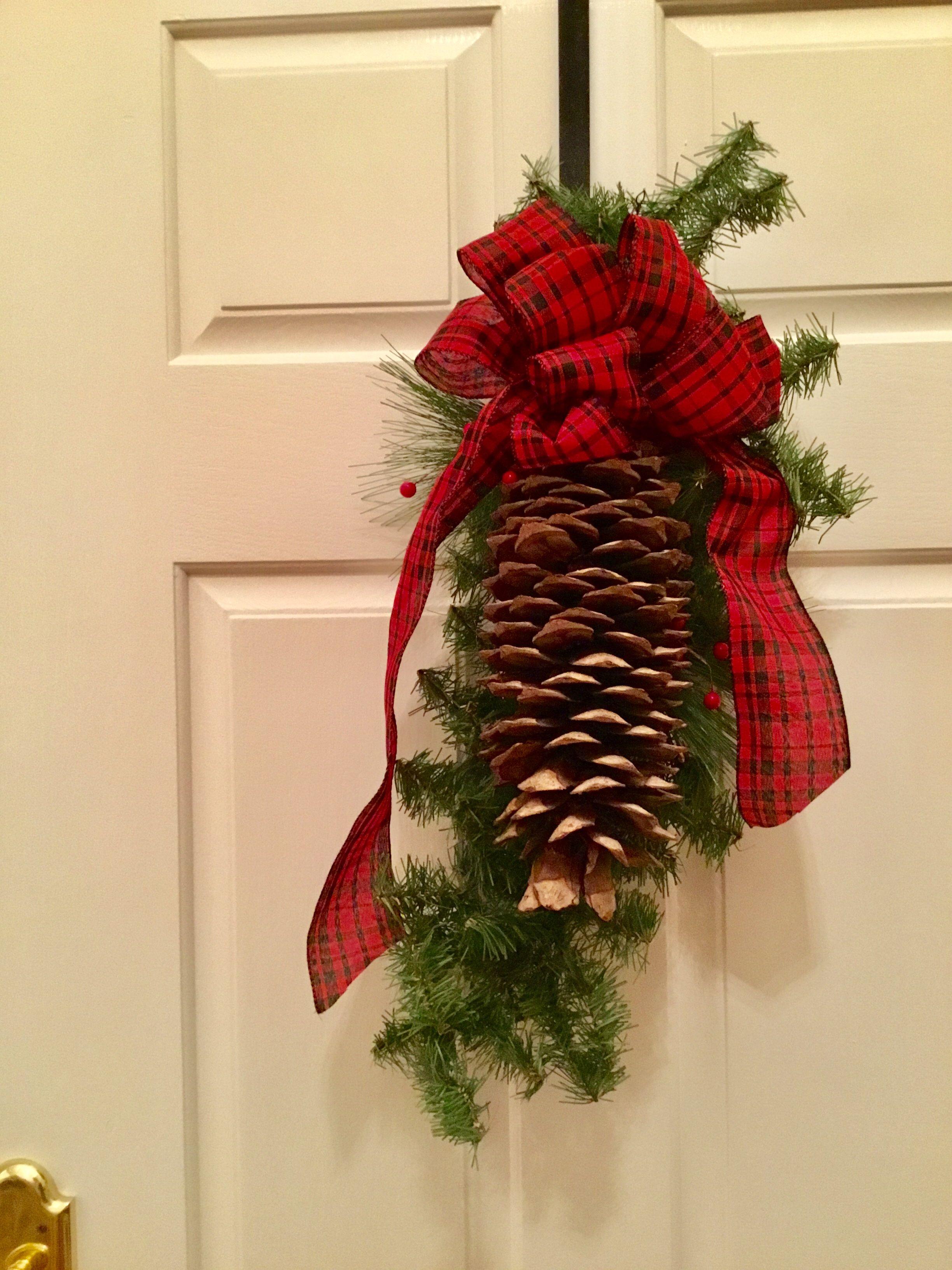 CHRISTMAS TREE DECORATIONXmas ornamentCone decorPine cone satin ornament