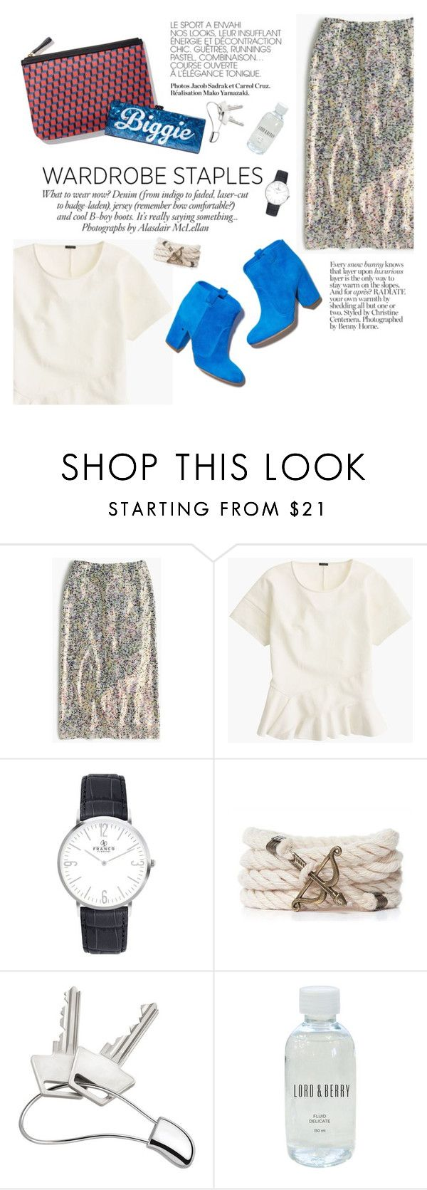 """""""Wardrobe Staple: White T-Shirt"""" by punnky ❤ liked on Polyvore featuring J.Crew, ANNA, Laurence Dacade, Pierre Hardy, Edie Parker, Georg Jensen and Lord & Berry"""