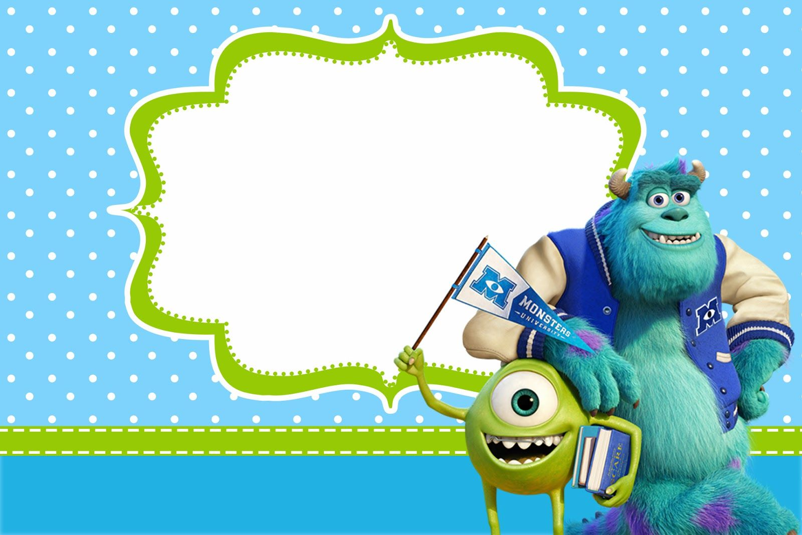 Monster University: Free Printable Party Invitations. | Oh My Fiesta ...