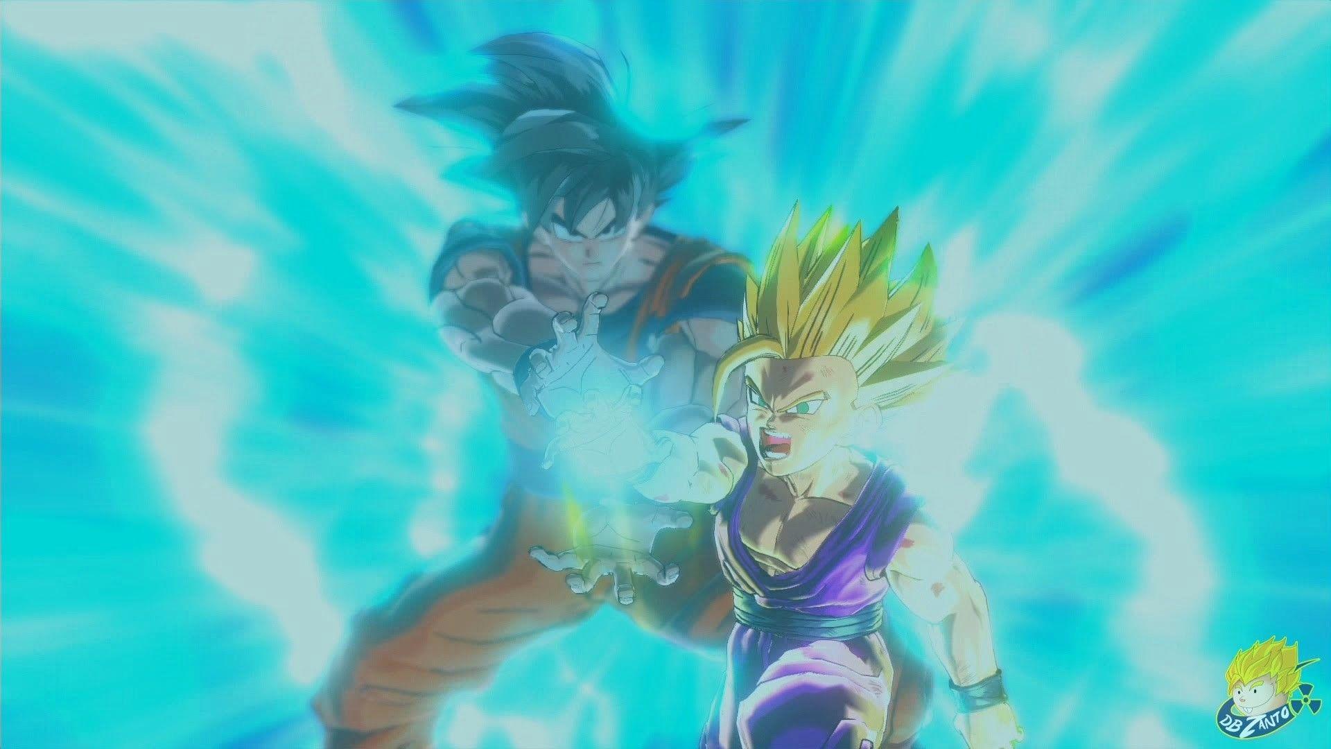 Dragon Ball Z Raging Blast 2 Gohan Goku Kamehameha Google Search Cell Saga Goku And Gohan Dragon Ball