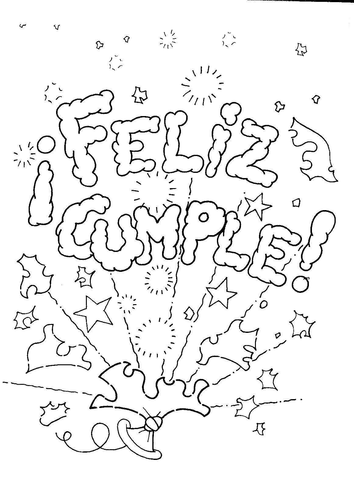 Letras de feliz cumplea os para colorear buscar con - Feliz cumpleanos letras ...