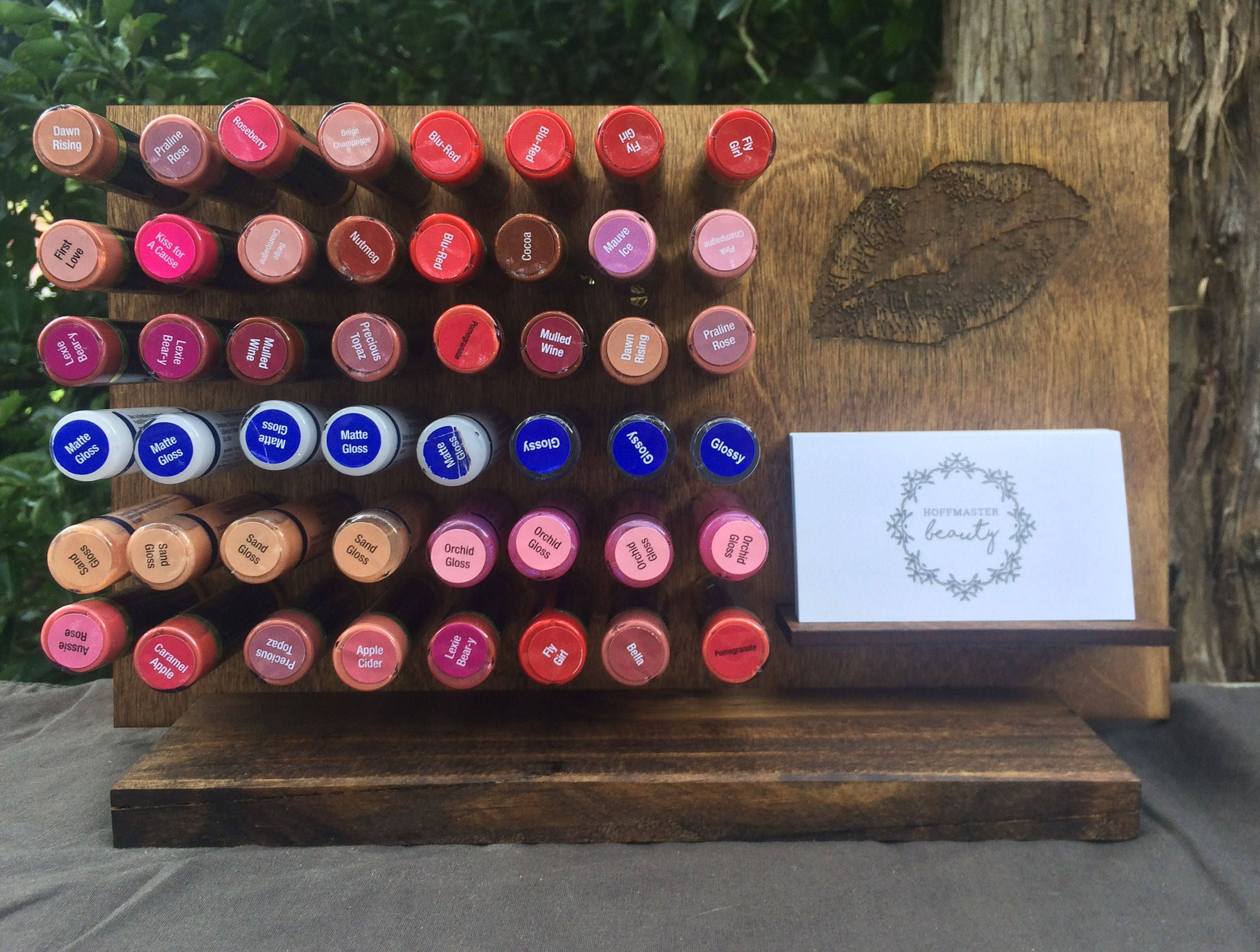 show off your lipsense colors and glosses with a custom engraved