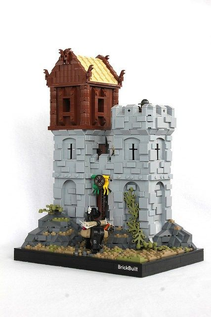 little lego castle is big on detail httpwwwbrothers brick