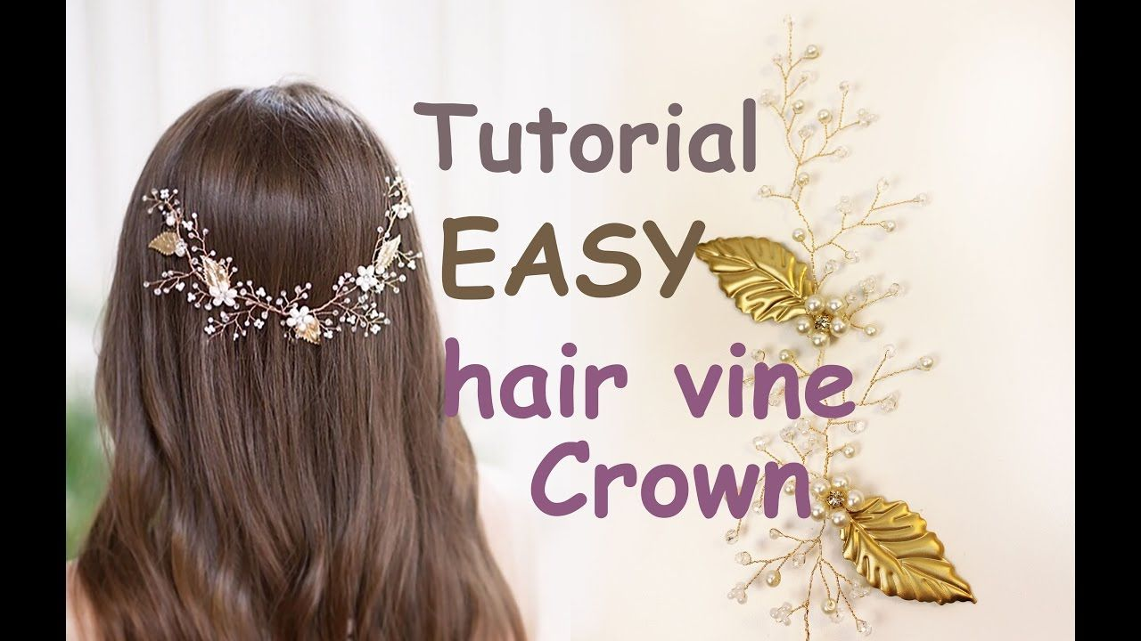 EASY Tutorial Hair Tiara Crown Wedding Prom Headpiece DIY Hair Vine Gold...