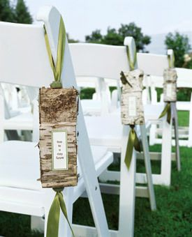 Making Rustic Birch Aisle Signs Project Wedding