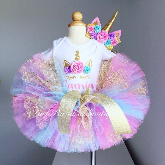 Unicorn birthday outfit ,Baby girl birthday outfit #birthdayoutfit