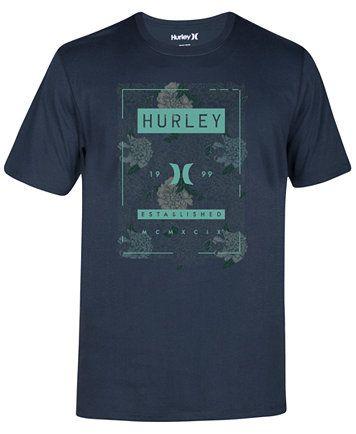 2bd8748df5e Hurley Men s Shacked Premium Graphic-Print Logo T-Shirt