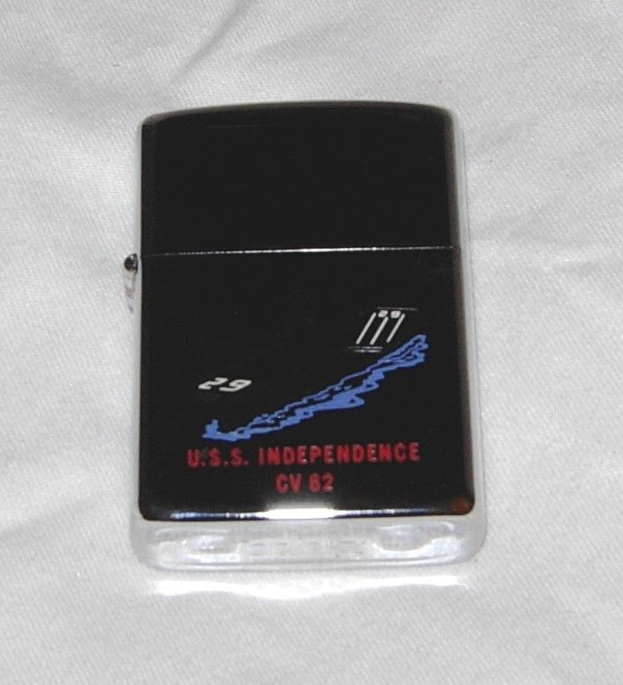 Zippo Vintage1973 Uss Independence Navy Carrier Lighter 2 Sided