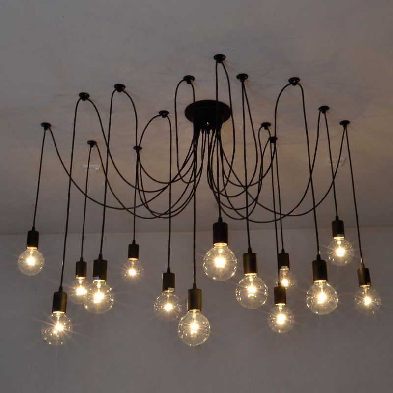 Industrial Vintage Ceiling Lights Retro Lamps Chandelier Fitting Home Decoration