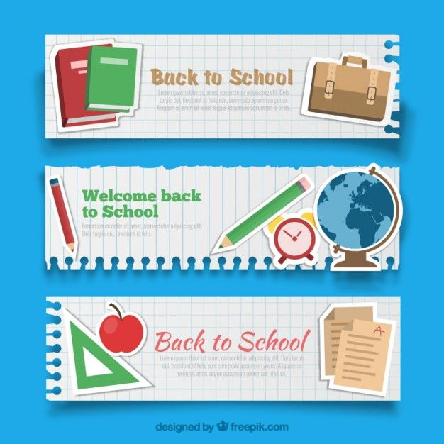 Back to school banners Free Vector Book Background Pinterest - fresh invitation banner vector