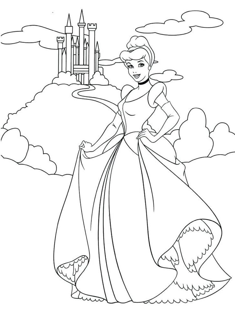 Belle And Cinderella Coloring Pages Below Is A Collection Of Adorable Cinderel Disney Princess Coloring Pages Cinderella Coloring Pages Disney Princess Colors