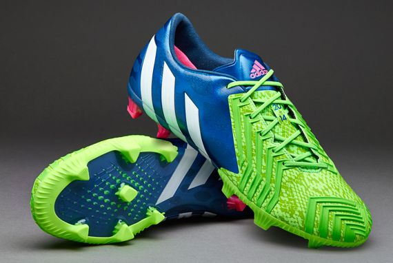 adidas Soccer Shoes - adidas Predator Instinct FG - Firm Ground - Soccer  Cleats - Rich Blue/White/Solar Green - M17644