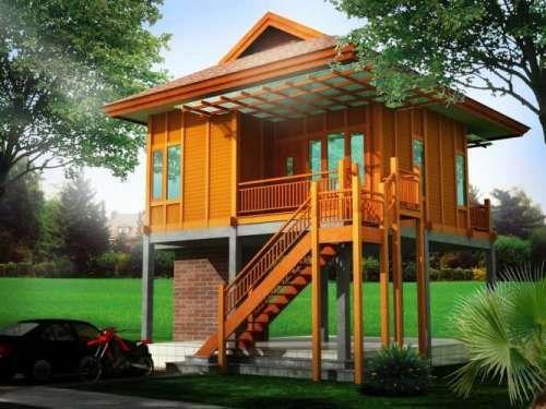 Desain rumah panggung minimalis - Rumahkayumurah | Rumah ...