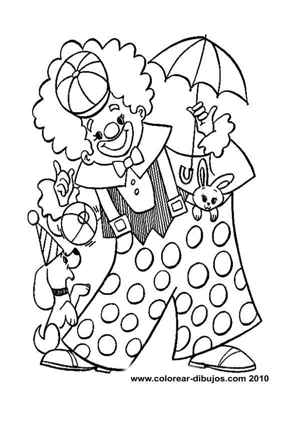 Dibujos De Payasos Para Colorear Payasos En Laminas Con Dibujos Dibujos Infantiles Payasos Para Colorear Circo Para Colorear Payaso Para Pintar