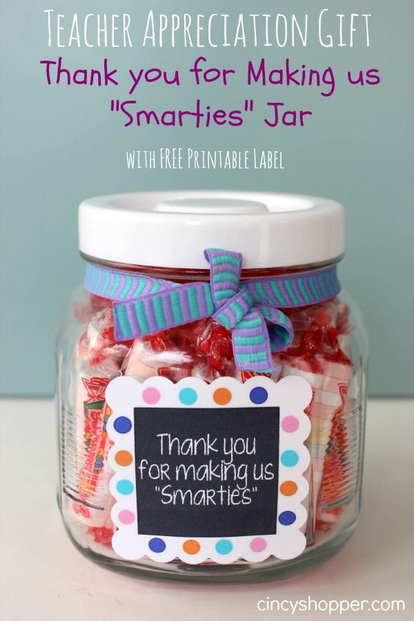 Quick easy teacher appreciation gift thank you for for Gifts u can make