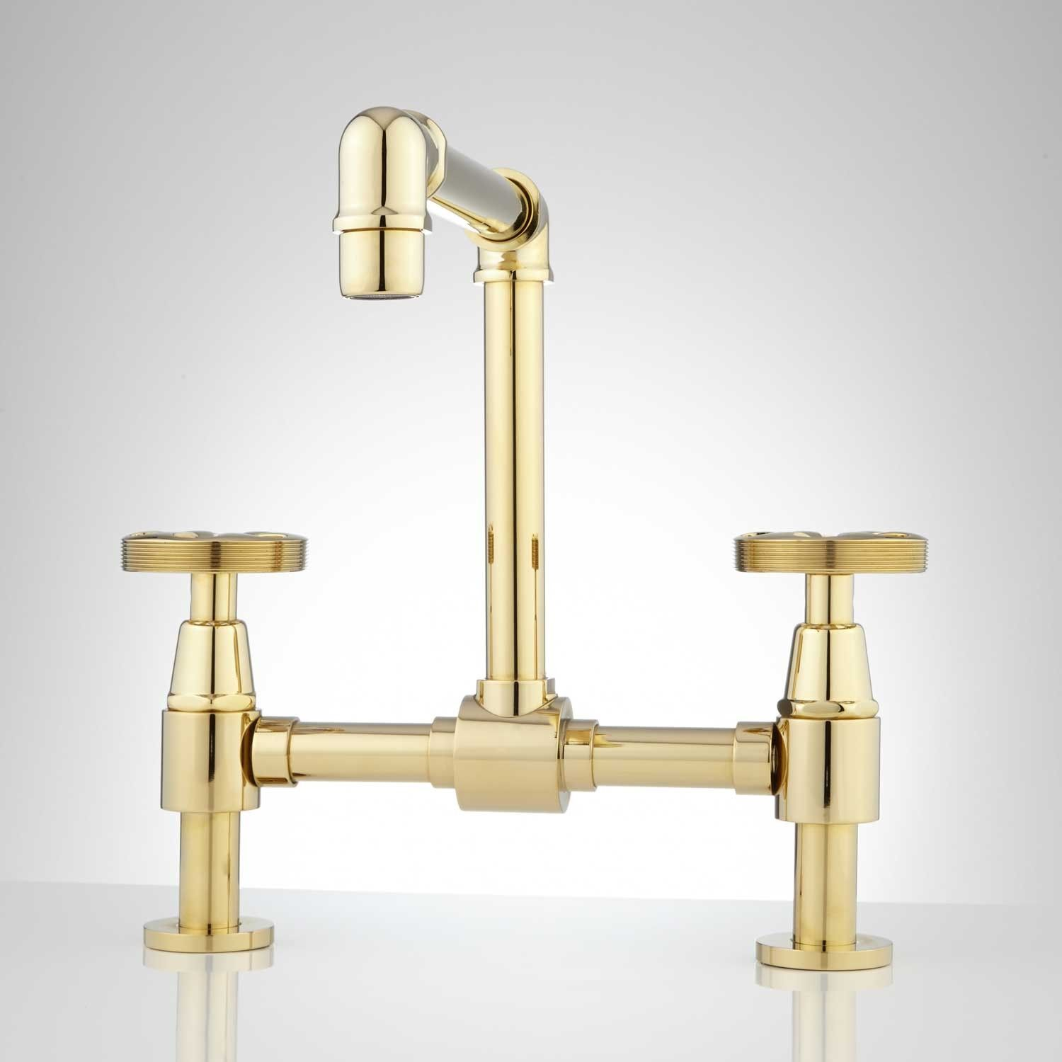 Edison Bridge Bathroom Faucet with Pop-Up Drain | Faucet, Brass ...