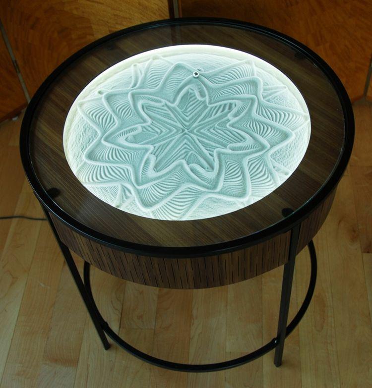 Couchtisch mit attraktiver Beleuchtung Möbel Pinterest Deko - couchtisch aus massivholz deko sand