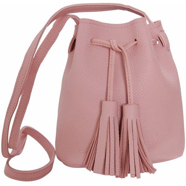 bf92a59c5ec1 Cross Body Handbags · Humble Chic NY Mini Tassel Bucket Bag Small Vegan  Leather Drawstring... ( 44